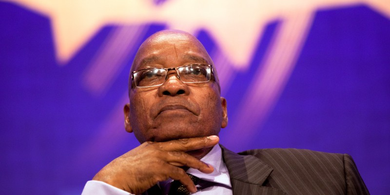 South African President Jacob Zuma (Photo by Daniel Berehulak/Getty Images)