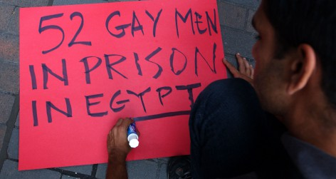 Protesters demand release of Cairo 52 (Photo by Spencer Platt/Getty Images)
