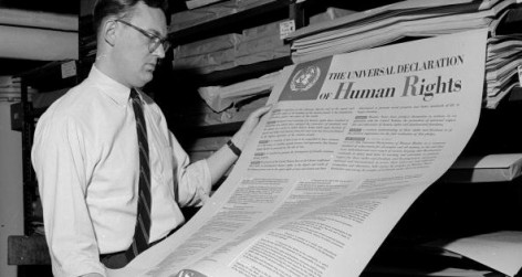 1955: The Universal Declaration of Human Rights (Photo by Three Lions/Getty Images)