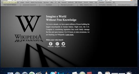 Wikipedia's blackout