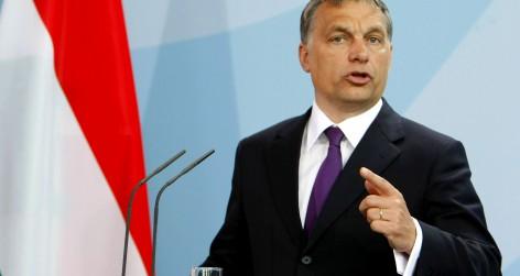 Hungarian Prime Minister Orban Meets Merkel