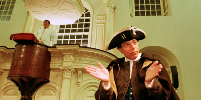 PATRIOTS DEBATE TEA TAX BEFORE BOSTON TEA PARTY REENACTMENT.