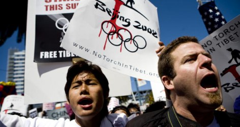 Protests Erupt As Olympic Torch Relay Winds Through San Francisco