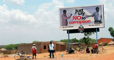 A campaign to prevent bribes in Zambia