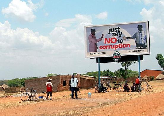 A campaign to prevent bribes in Zambia