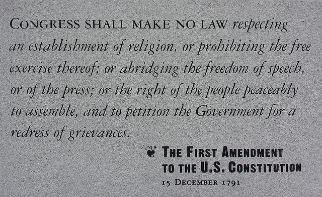 First Amendment US Constitution