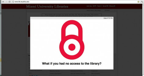 Open Access website (Photo by JenWaller under a Creative Commons Attribution-NonCommercial-ShareAlike Licence)