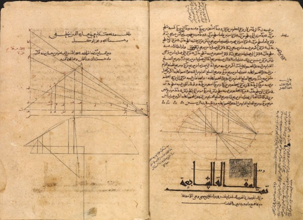 Geometric diagrams from an 11th century Arabic manuscript, courtesy of the Bodleian Libraries, Oxford. (Creative Commons Attribution) Source: http://bit.ly/2dFygvo
