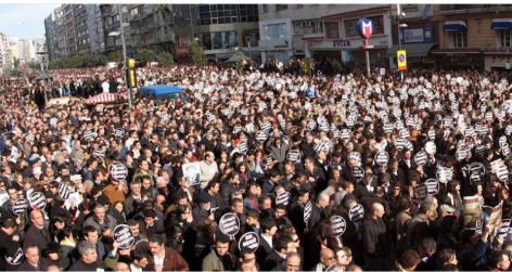 "Over 100,000 people protesting in Istanbul in 2007 after the assassination of prominent journalist Hrant Dink, carrying placards such as ""We are all Hrant Dink"" and ""We are all Armenians"" in Turkish, Armenian, and Kurdish. Image in the public domain. Source: http://bit.ly/2l3MCuV"